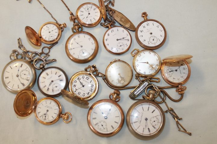 Huge assortment of Pocket and wrist watches