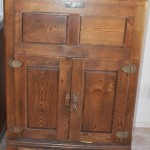 Antique oak ice box