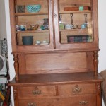 Antique Oak Dish cupboard