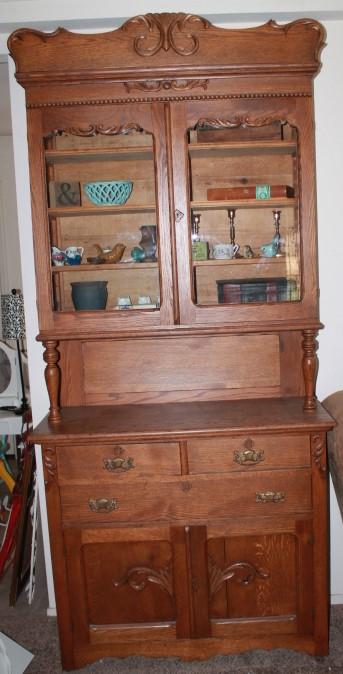 Antique Oak Dish cupboard