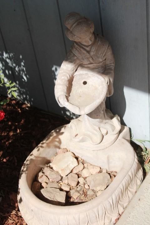 One of several yard statues.